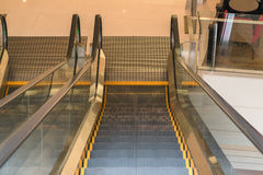 Modern escalator in shopping center Royalty Free Stock Image