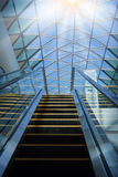 Modern escalator in shopping center Royalty Free Stock Photo