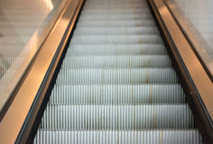 Modern escalator in shopping mall Stock Images