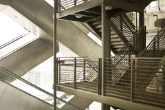 Modern escalator and stairs Stock Photography