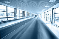 Modern escalatorin airport Stock Image