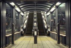 Modern escalators Stock Photos