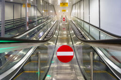 Modern escalators Royalty Free Stock Image