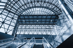 Modern escalators in the station Royalty Free Stock Images