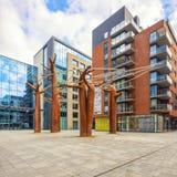 Modern european architecture of Antwerp stock photo
