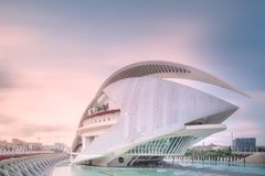 Modern european architecture and museum, Valencia Spain.  royalty free stock photography