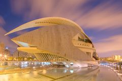 Modern european architecture, Valencia Royalty Free Stock Photos