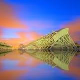 Modern european architecture, Valencia Royalty Free Stock Photos