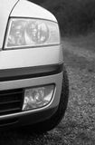 Modern European Car. Part of car, front side Royalty Free Stock Photo