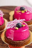 Modern european pastries with glaze Royalty Free Stock Photo