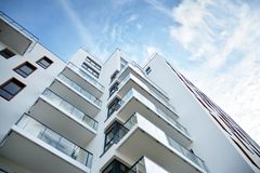 Free Modern European Residential Apartment Buildings Quarter. Abstract Architecture, Fragment Of Modern Urban Geometry. Royalty Free Stock Image - 161463286