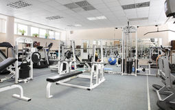 Modern european sport gym without people Stock Photo