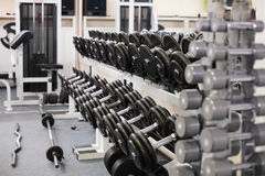 Modern european sport gym without people Royalty Free Stock Image