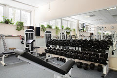 Modern european sport gym without people Stock Images