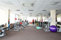 Modern european sport gym without people Stock Photography