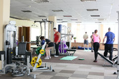 Modern european sport gym without people Royalty Free Stock Photography