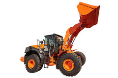 Modern excavator bulldozer with clipping path isolated Royalty Free Stock Photo