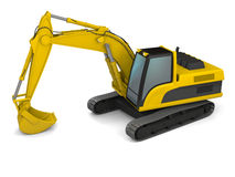 Modern excavator illustration Royalty Free Stock Photos