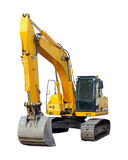 Modern excavator isolated on the white Royalty Free Stock Photo