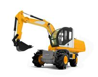 Modern excavator machines Royalty Free Stock Image