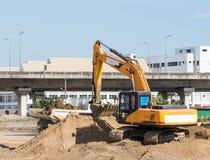 Modern excavator vehicle Stock Image