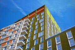 Modern executive apartments. Modern executive flats at Canary Wharf, London stock photos