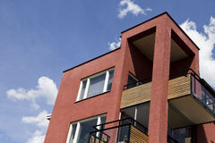Modern executive Apartments. In front of blue sky Royalty Free Stock Photos