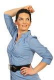 Modern executive woman looking sideways Royalty Free Stock Photo