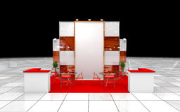 Modern exhibition stand Stock Photos