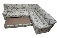 Modern expandable corner sofa Royalty Free Stock Photos