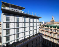 Modern extension to the old building. Historic center of Havana. Cuba Royalty Free Stock Images