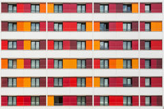 Modern exterior of a colorful building Royalty Free Stock Images
