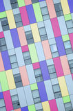 Modern exterior facade of a colorful office building. Colored abstract architecture background royalty free stock photography
