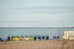 modern exterior of an industrial building Royalty Free Stock Image