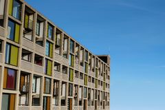 Modern exterior of the newly refurbished luxury apartments Park Hill Stock Photos