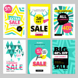 Modern eye catching social media sale banners. Vector illustrations for website and mobile website banners, posters, email and newsletter designs, ads Royalty Free Stock Photography