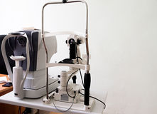 Modern eye testing device standing in the lab royalty free stock photos