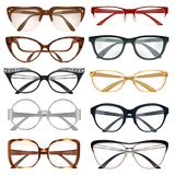 Modern Eyeglasses Set Royalty Free Stock Photos