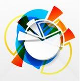 Modern färgrik diagramdesign för vektor Arkivfoton
