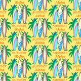 Modern färgrik surfingbrädauppsättning för vektor Royaltyfri Illustrationer