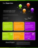 Modern färgwebsitemall Royaltyfria Foton