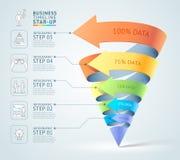 Modern för trappuppgångdiagram för kotte 3d affär vektor illustrationer