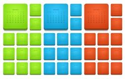 Modern för 2015 uppsättning kalendersymboler för vektor Royaltyfri Bild