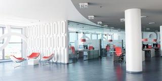 Modern företags workspace royaltyfri illustrationer