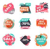 modern försäljningsset för etiketter vektor illustrationer