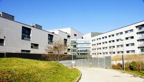 Modern façade and entrance to the new hospital of Santa Creu i Sant Pau Royalty Free Stock Photography