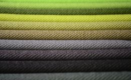 Modern Fabrics. A swatch of modern day fabric colors Stock Image