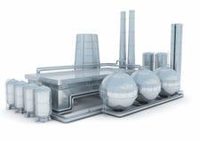 modern fabrik vektor illustrationer