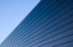 Modern facade with black glass Stock Image