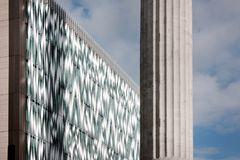 Modern facade of the building. The modern facade of the building Royalty Free Stock Images